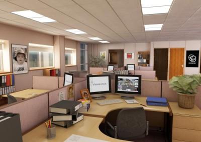 Hawkins Office Desk View 2
